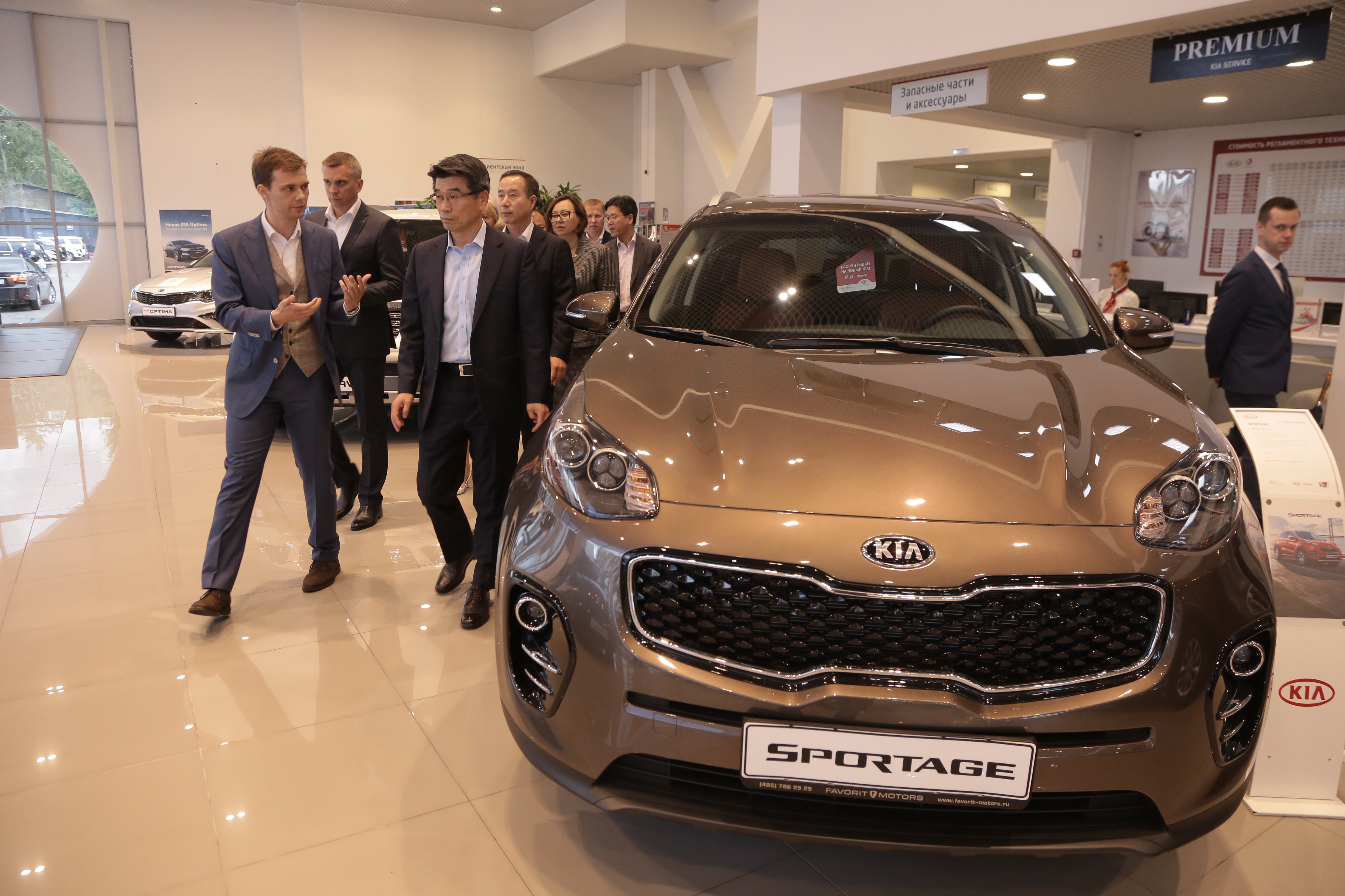 Руководство KIA MOTORS CORPORATION посетило KIA FAVORIT MOTORS.