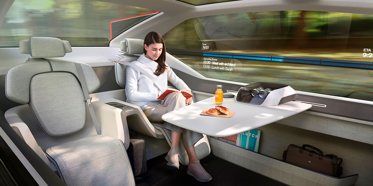 Концепция беспилотника Volvo 360c: переосмысление баланса между работой и личной жизнью и будущего городской среды