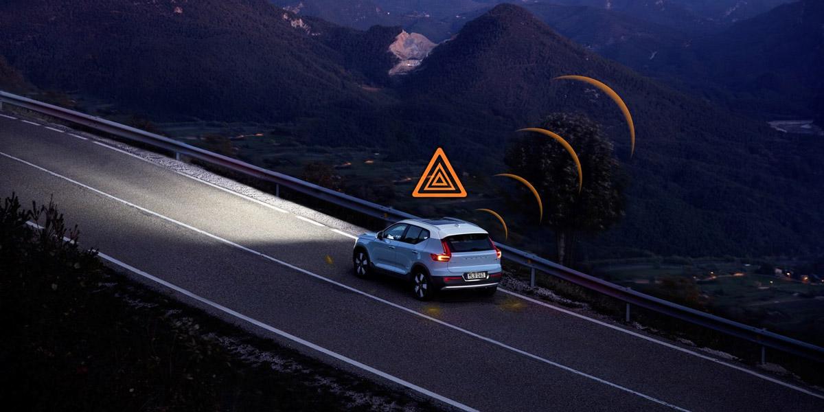 Автомобили Volvo смогут предупреждать друг друга об опасности на дороге в странах Европы