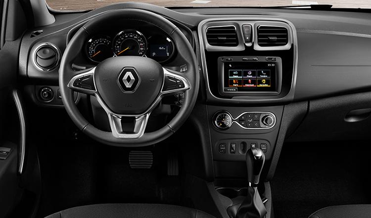 «></p></p><p><p>Как и Логан-седан, Степвей обладает просторным салоном и вместительный багажником, объемом в 510 литров.</p></p><p><h2>Технические характеристики</h2></p><p><p>Новый Renault LOGAN Stepway 2018-2019 по усмотрению покупателя может быть оснащен двигателями 1,6-литра мощностью в 82, 102 и 113 лошадиных сил. Их работу успешно дополняют 4-ступенчатая коробка-автомат и 5-ступенчатая механика.</p></p><p><p><img src=