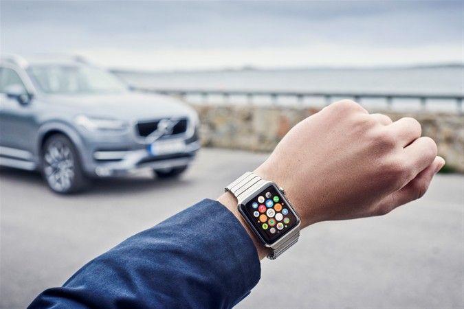 Теперь дистанционное управление функциями в автомобиле Volvo доступно через Apple Watch