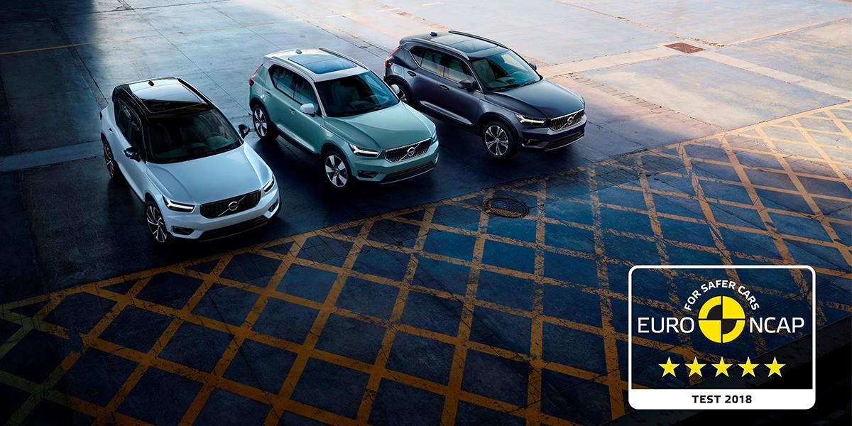 Европейский автомобиль года Volvo XC40 получил высшую оценку по безопасности в тестах Euro NCAP